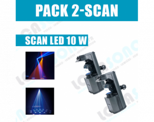 PACK lumière  2 scan LED 10...
