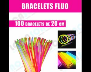 Vente 100 Bracelets  FLUO...