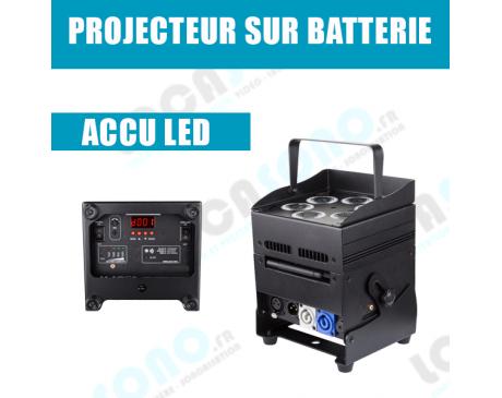 Location de projecteur LED sur batterie sans fil