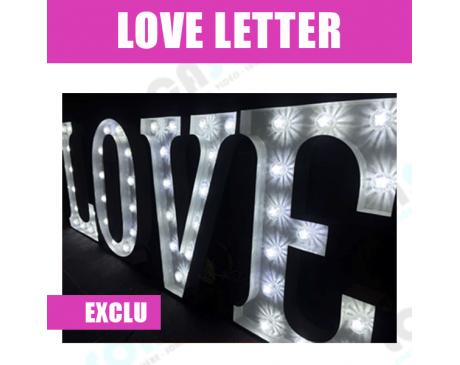 Love letter géant - Blanc rétroéclairé