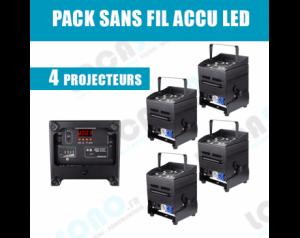 Pack 4 projecteurs LED sur...