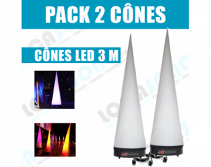 Pack  2 Cônes lumineux...