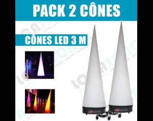 Pack  2 Cônes lumineux...