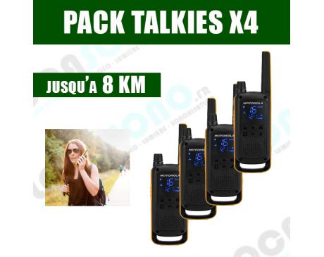 PACK  4 Talkies Walkies - jusqu'à 8 KM