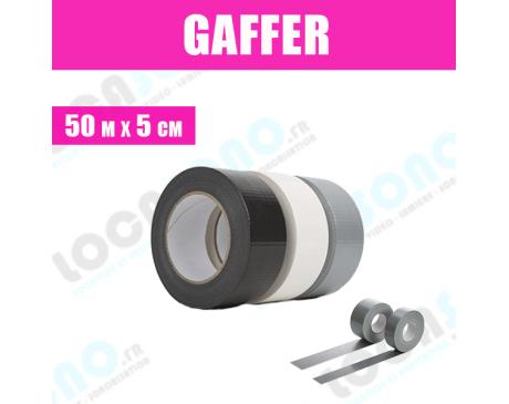 Rouleau de Gaffer noir / blanc / gris 50m