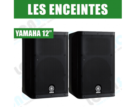 paire d 39 enceintes amplifi es yamaha dxr 12. Black Bedroom Furniture Sets. Home Design Ideas