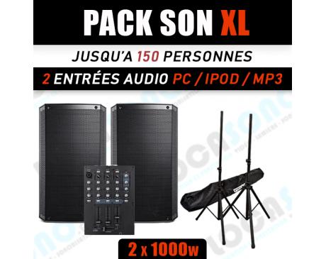 Location PACK SON XL - Jusqu'à 150 personnes ou 200 M²