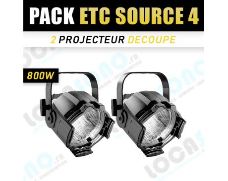 Pack 2 Projecteurs PAR ETC SOURCE 4
