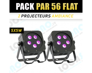PACK 2 Par 56 irLEDFLAT-5x5w