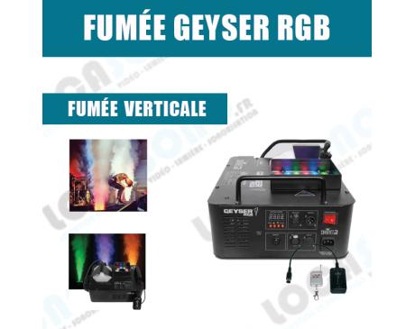 Machine a fumée verticale - Geyser  RGB 1500W