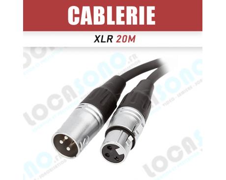 Location de Câble XLR 20 M-Longueur de 20 M