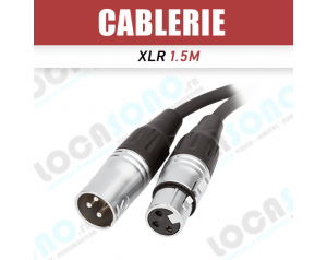 Vente câble XLR 1,5m