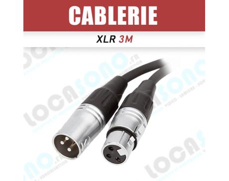 Vente câble XLR 3m