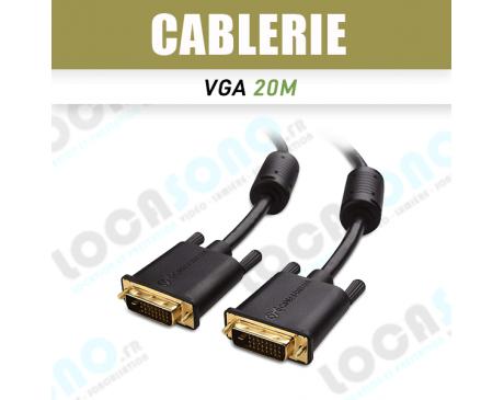 Vente câble VGA HD 20 m