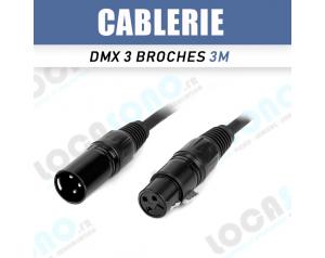 Vente câble DMX 3m