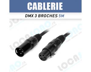 Vente câble DMX 5m