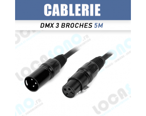 Câble DMX 5m
