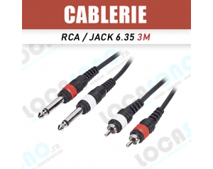 Vente câble Double jack...