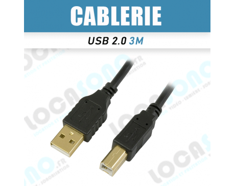 Vente câble USB 2.0 3m