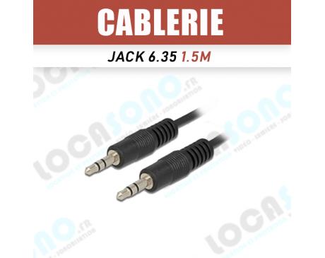 Vente mini Cordon ligne 1,5m Jack 3,5 mm stereo male / 3,5 stereo male