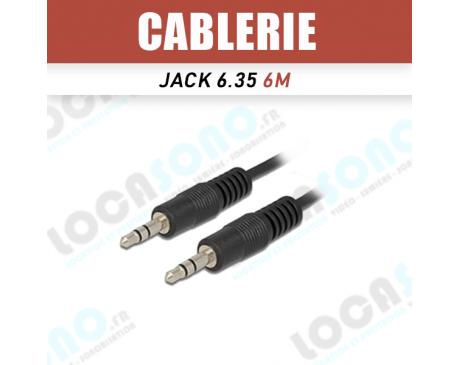 Vente mini Cordon ligne 6m Jack 3,5 mm stereo male / 3,5 stereo male