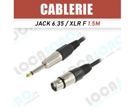 Vente câble XLR Femelle/Jack Male 6,35 mono 1m50