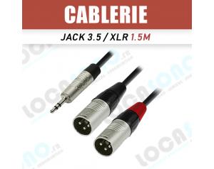 Câble Jack Stereo 3,5 / 2x...