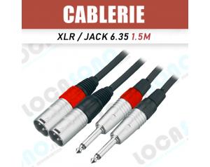 Câble jack 6.35 mâle vers...