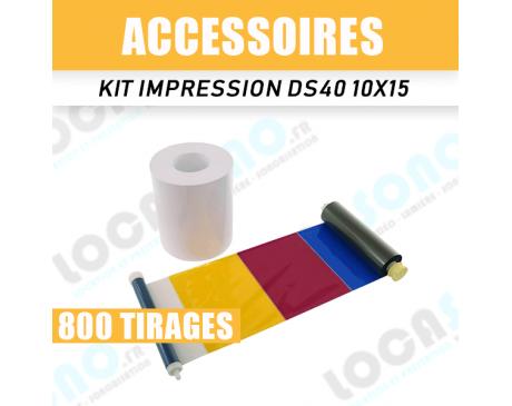 Kit impression DS 40 - 800 tirages 10 x 15 cm