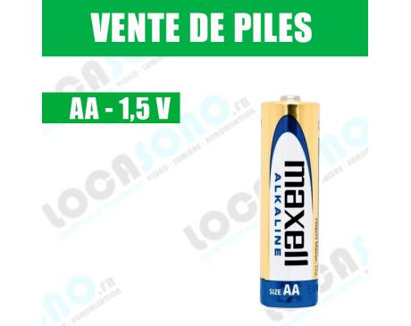 Vente de pile AA 1.5V MAXCELL prix à l'unité