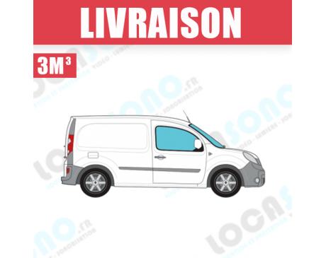 Service de Livraison  véhicule type -   3 m³ / 4 m³  - Tarif au km