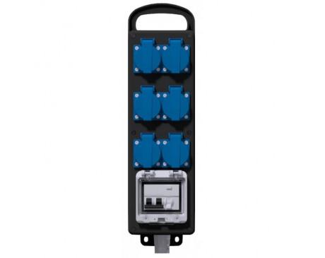 Adaptateur P17 - vers coffret  6 prises - 220 V avec disjoncteur