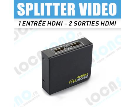 Location distributeur HDMI - 1 entrée vers 2 sorties
