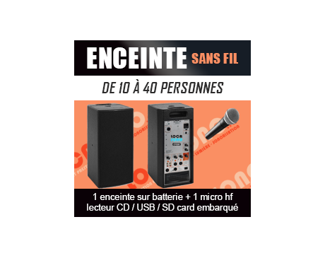 Enceinte Autonome Puissante Avec Micro HF - Lecteur USB / CD / SD