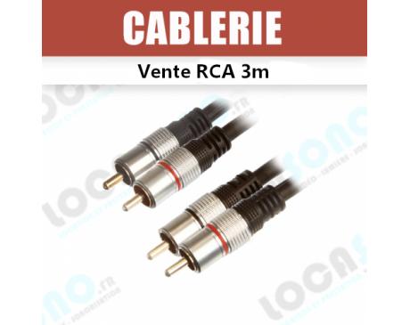 Vente câble Double RCA vers RCA 3m PRO CAB