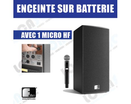 Location d'enceinte Pro sur batterie avec micro HF - 40 pers