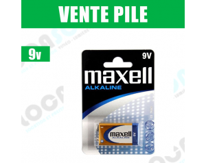 Vente Pile 9V Maxcell
