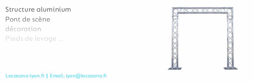 Location de structure aluminium à Lyon chez LOCASONO