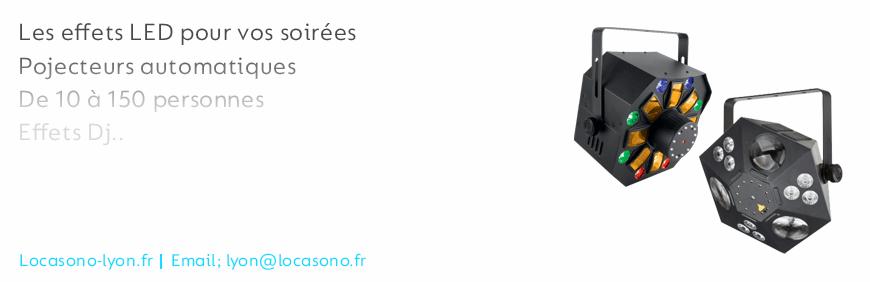 Location de lumières et effet disco pour mariage, conférences, spectacles sur Lyon
