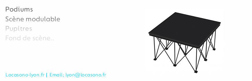 La location de scène et podium à Lyon dan votre magasin Locasono
